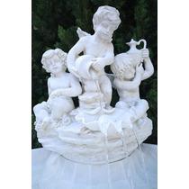 Fonte De Água 3 Anjos Para Decoração De Casa E Jardim-fpr050