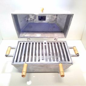 Churrasqueira À Bafo Grande Aluminio Fundido Com Grelha
