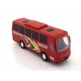 Miniatura De Ônibus Plástico Brinquedo
