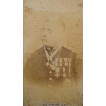 General Porfirio Díaz: Retrato Original - Foto Antigua