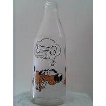 Botella De Leche De Vidrio (made In Italy)