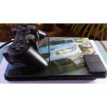 Playstation 2 Desbloqueado 1 Controle + Memory Card +5 Jogos