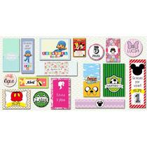 Stickers Etiquetas Personalizadas Plancha - Candy Bar