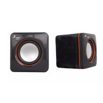Mini Caixa De Som Portátil 6wrms Usb P2 Knup Kp-600 Preta...