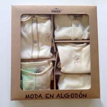 Kit De Ropa De Algodón Orgánico Para Bebé Talla 0 - 9 Piezas