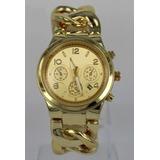 Reloj Mk Malla Cadenas/dorado