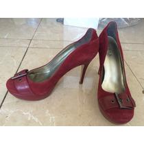 Zapatos Tacon Guess Tinto Nuevos