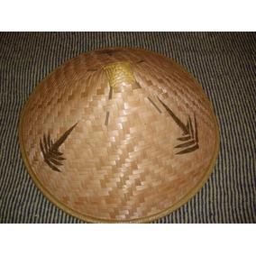 Sombrero Chino Bambú Decorado Acepto Mercadopago