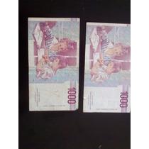 Numismatica Billete De 1000 Liras Italia
