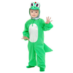 Yoshi-moto Del Traje De Los Niños Dino Verde