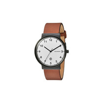 Relógio Skagen Ancher In Blacktone With Light Brown Leather