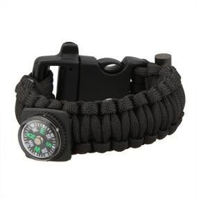 Bracelete Pulseira Sobrevivência Paracord Preta