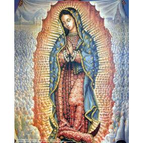 Lienzo En Tela. Virgen De Guadalupe. 60x75 Cm. Gratis 3...