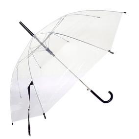 Paraguas Transparente Mango Negro Moda Estilo Promocion