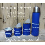 Set:latas-mate De Vidrio.personalizados Ecocuero Logos Fotos