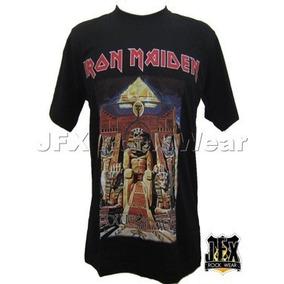 Camiseta Camiseta Blusa Rock Iron Maiden Powerslave