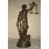 Estatua Figura De La Justicia En Petit Bronce!! Espectacular