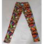 Calzas Estampadas Colores Pop Art T2 Comics Elastizadas