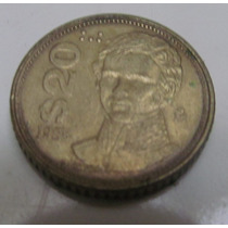 Moneda $20 Pesos ( Guadalupe Victoria ) Bronce 1985