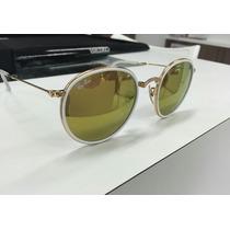 Óculos De Sol Rayban Dobrável Made In Italy Novo Completo