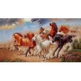 Cuadro Al Oleo Caballos.pinturas Para Sala Hogar
