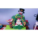 Adornos De Navidad En Foami Coronas Santa P/decorar Puertas