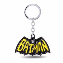 Chaveiro O Batman Logo Clasico Em Metal Colorido