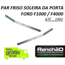 Par Friso Porta Tapete Caminhão Pick Up Ford F1000 F4000