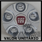 Calota Tampa Miolo Centro Roda Noova Nv22 Fiat Prata Aro 17