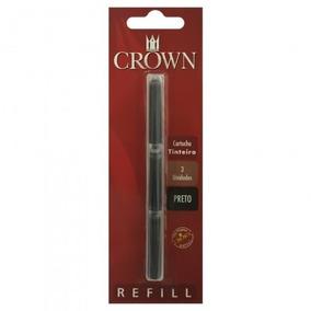 Carga Refil Crown Caneta Tinteira Ca32005p Preta Original