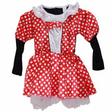 Fantasia Minnie Infantil Vestido Para Criança 5 A 6 Anos M