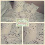 Set Chichonera+acolchado+juego De Sábanas+cortinas+almohadas