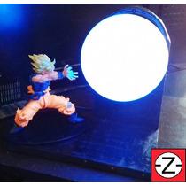 Luminária Abajur + Boneco Goku Dragon Ball Kamehameha