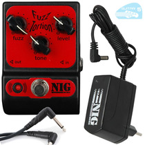 Fuzz Tortion Pft Pedal Nig Pocket Guitarra + Fonte 1 S Nf11