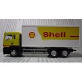Camion Man Aceite Shell Escala 15cm Largo De Coleccion.
