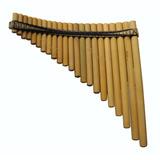 Flauta Pan 22tubos Bambú.afin440tono Sol+/mi-semipro.c/funda