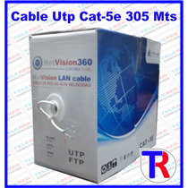 Bobina Cable Utp Cat-5e 305 Mts Netvision360 Internet