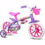 Bicicletinha Bicicleta Infantil Menina Aro 12 Violet Nathor
