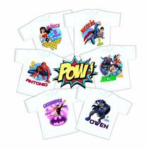 Playera Superheroes Personalizada Fiesta Infantil