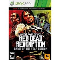 Red Dead Redemption Goty Mídia Física Novo Xbox 360 E Xone