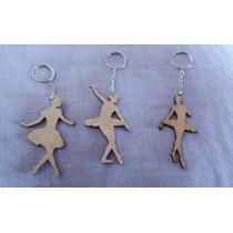 Bailarina Mdf - Chaveiro - Escultura - Aplique