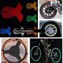Cintas Reflejantes Rin Colores Moto Auto Color Naranja Cinta