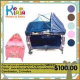 Kirin Cuna Corral Para Bebé Con Cambiador Y Juguetes
