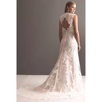 Lindo Vestido Longo De Noiva Renda E Calda Estilo Sexy Luxo