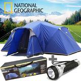 Barraca 8 Lugares Grande Camping Impermeável 2 Quartos Natge
