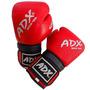 Guantes De Box Entrenamiento Adx De Piel Color Rojo - 12 Oz