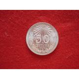 Moneda Resplandor 50 Centavos Plata