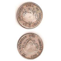 Moneda Bolivia Real 1865 De Plata Ejercito Leal De Diciembre