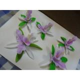 Flores Para Tortas ( 5 Piezas)