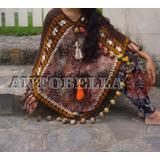 Poncho Tejido A Crochet Artesanal Salteño Y Aguayo